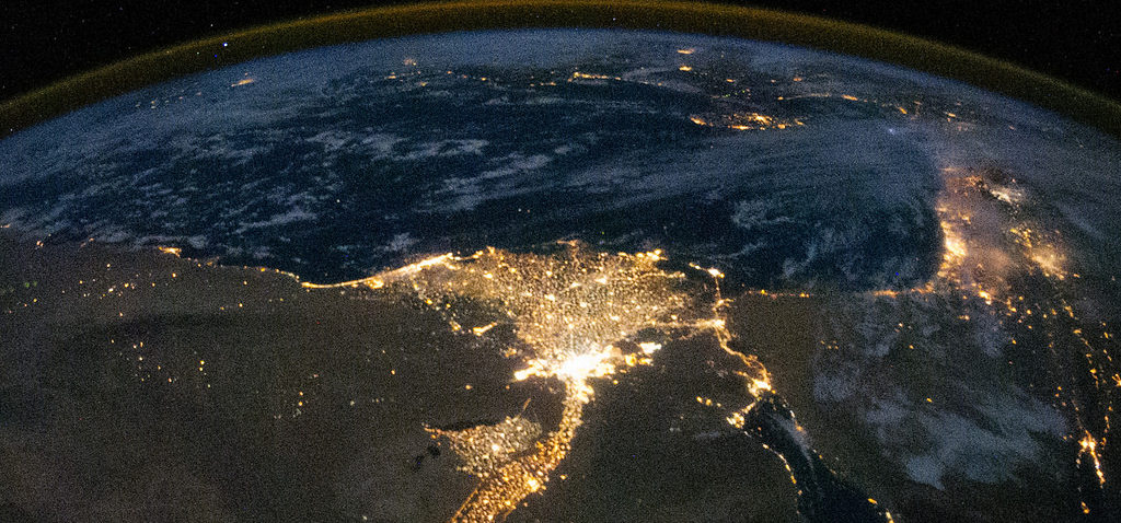 EU-Africa High Level Policy Dialogue. Photo cred - NASA on The Commons, Nile Delta at night