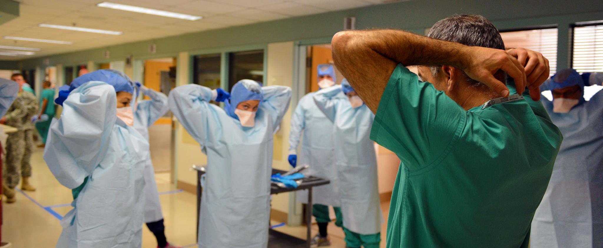 Ebola Research Database. Photo cred - Army Medicine, Ebola response training
