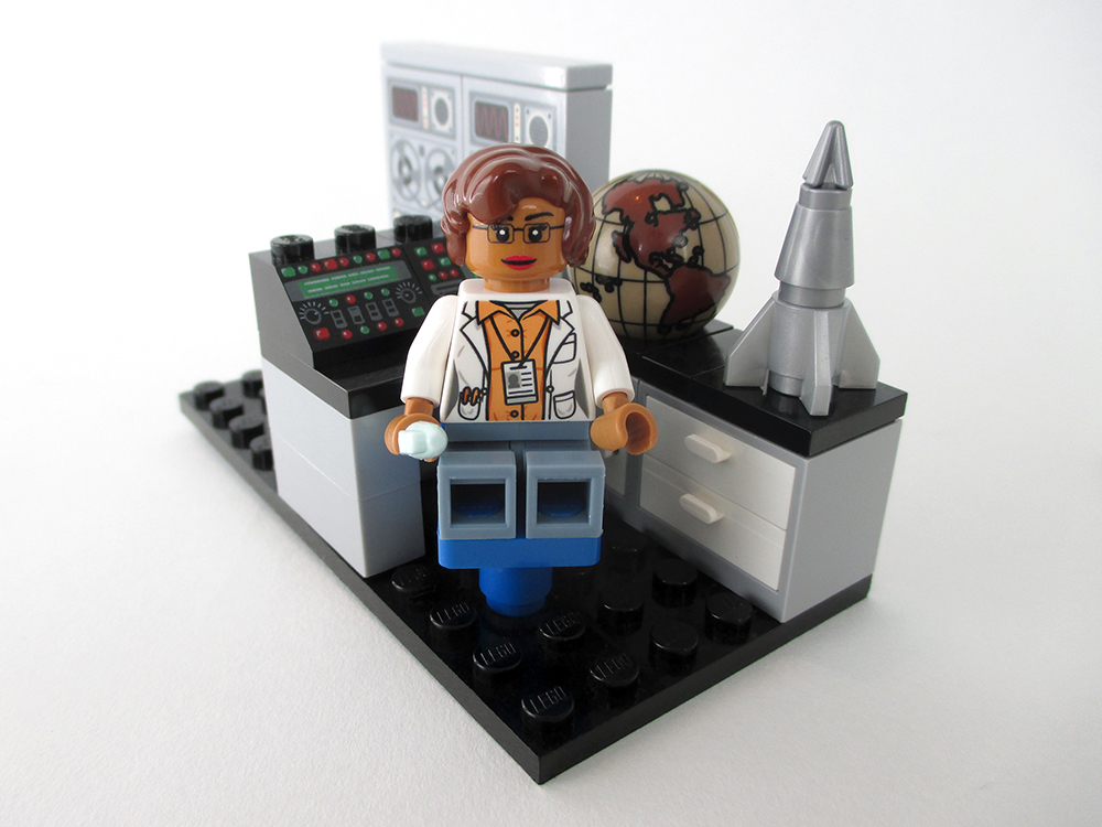How UKCDS can help researchers in global development. Photo cred - Maia Weinstock, Women of NASA on LEGO Ideas - Katherine Johnson
